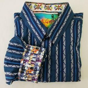 Robert Graham Stripe Flip Cuff Shirt
